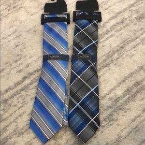 New men's Arrow blue black silver ties